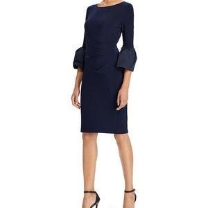 Ralph Lauren Taffeta Bell Sleeve Jersey Dress